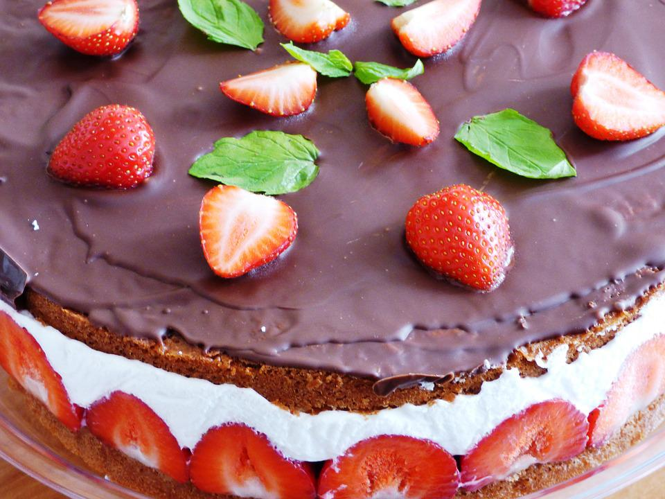 Cake, Sweets, Sweet, Chocolate, Strawberries, Fruit