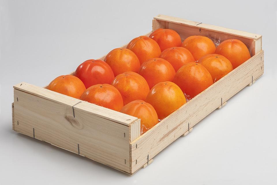 Food, Box, Fruit, Healthy, Kaki, Khaki, Container