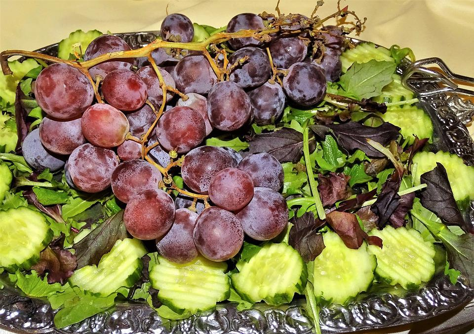 Food, Grapes, Cucumber, Eat, Fruit, Healthy, Fresh