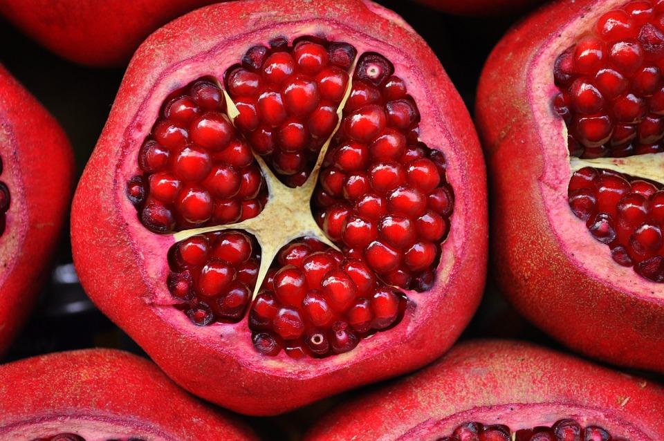 Pomegranate, Fruit, Exotic Fruit, Cut Fruit