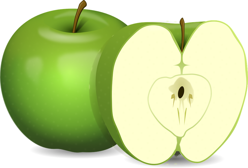 green and red apples clipart. apples, green, fruit, food, carpel, cut, sliced green and red apples clipart