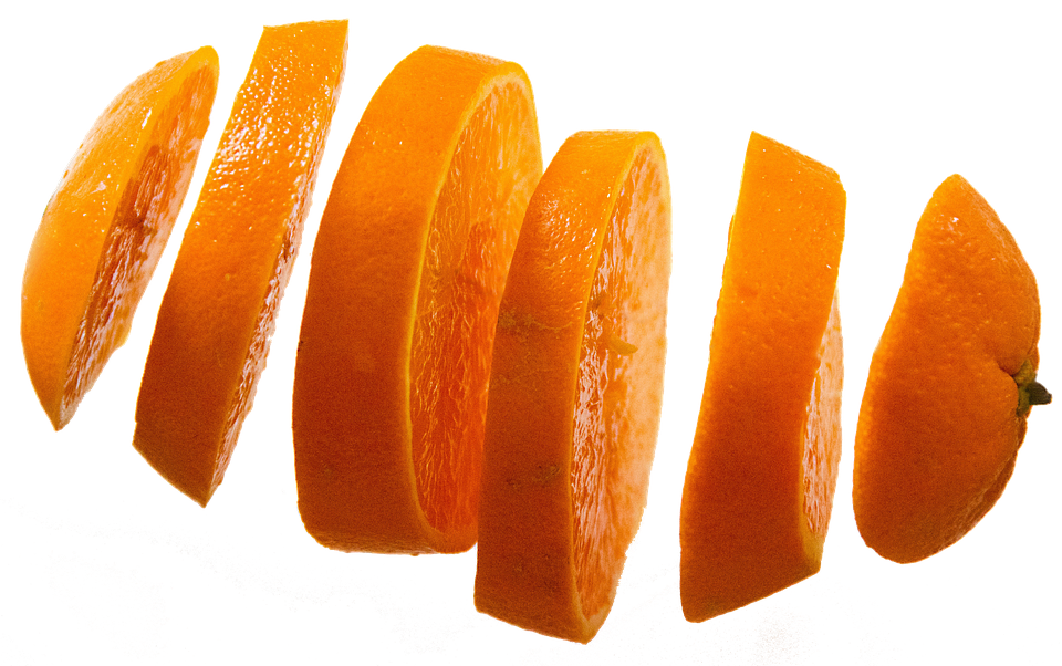 Orange Slices, Isolated, Fruit, Fruits, Food, Delicious