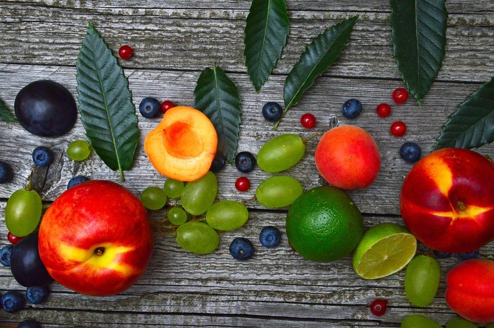 Fruits, Melon, Peach, Grape, Apricot, Fruit, Healthy