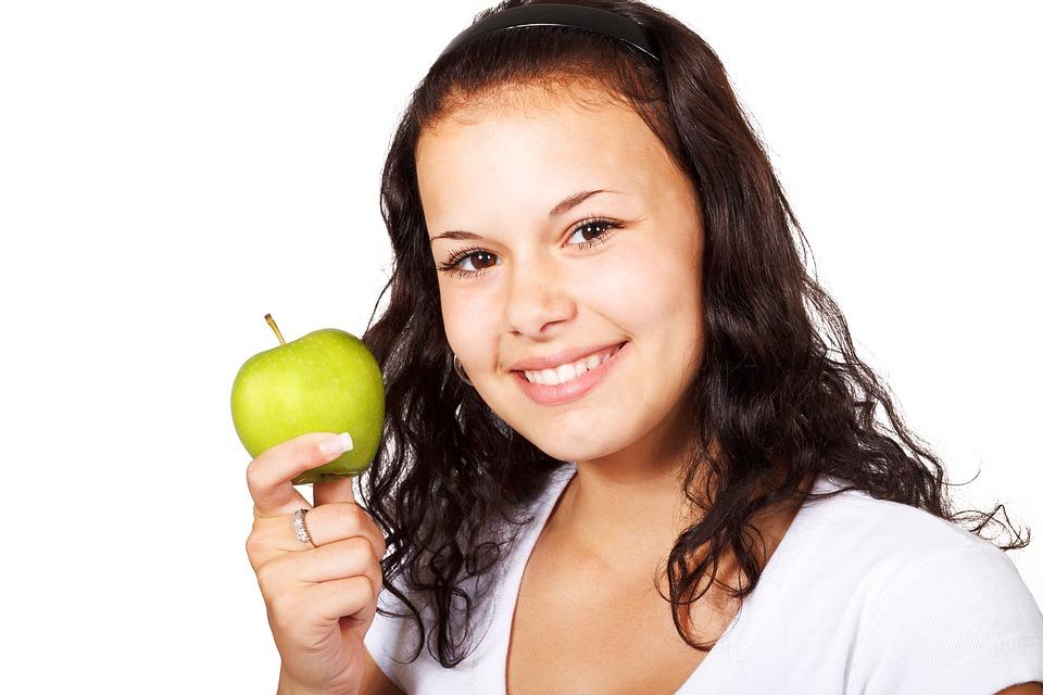 Apple, Diet, Healthy, Eating, Food, Fruit, Green, Hand