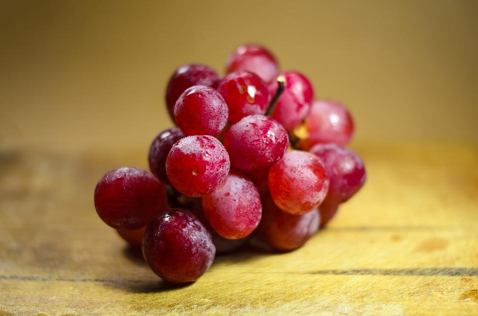 Healthy, Grapes, Fruit, Red Grapes, Bunch
