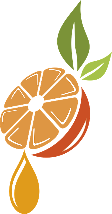 Orange, Leaves, Drop, Juice, Fruit