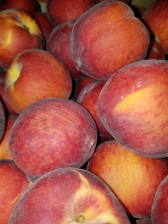 Peach, Peaches, Fruit, Food, Fresh, Healthy, Juicy