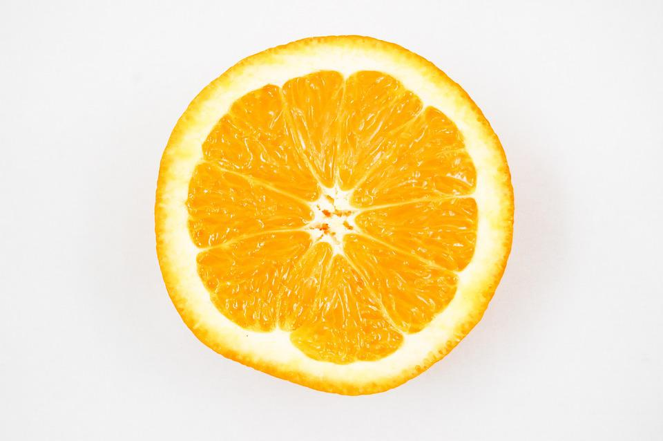 Orange, Fruit, Vitamins, Healthy Eating, Lemon, Half