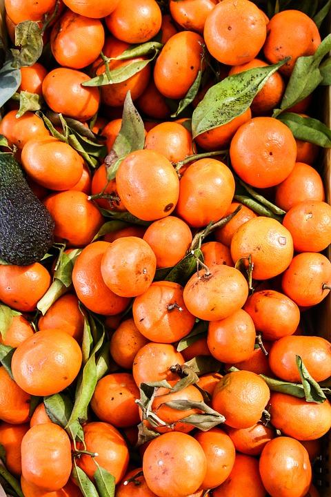 Mandarin, Market, Fruit, Food, Tropical Fruit, Eat