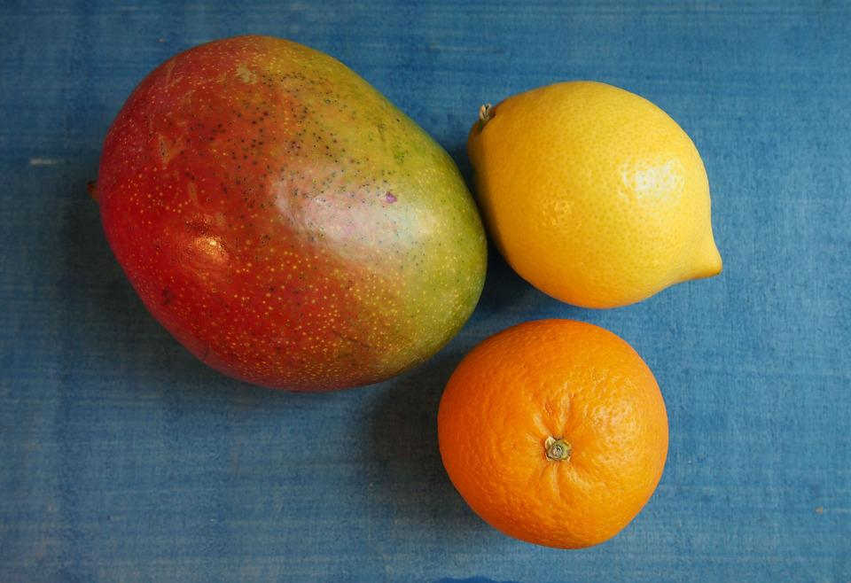 Fruits, Fruit, Mango, Orange, Lemon