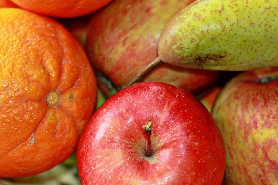 Apple, Fruit, Pear, Orange, Orange Fruits, Delicious