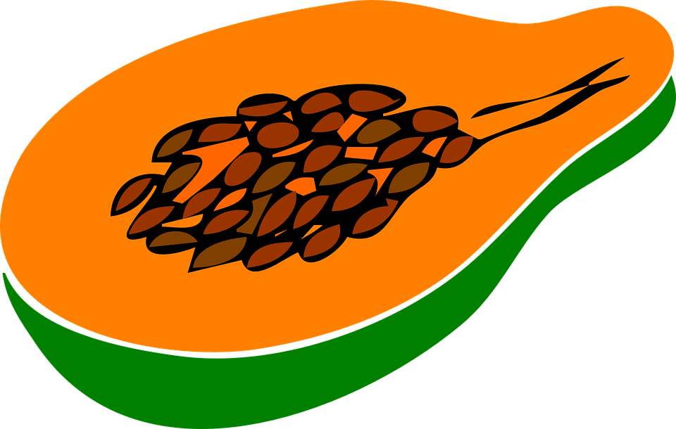 Papaya, Fruit, Halved, Fresh, Ripe, Orange, Sweet