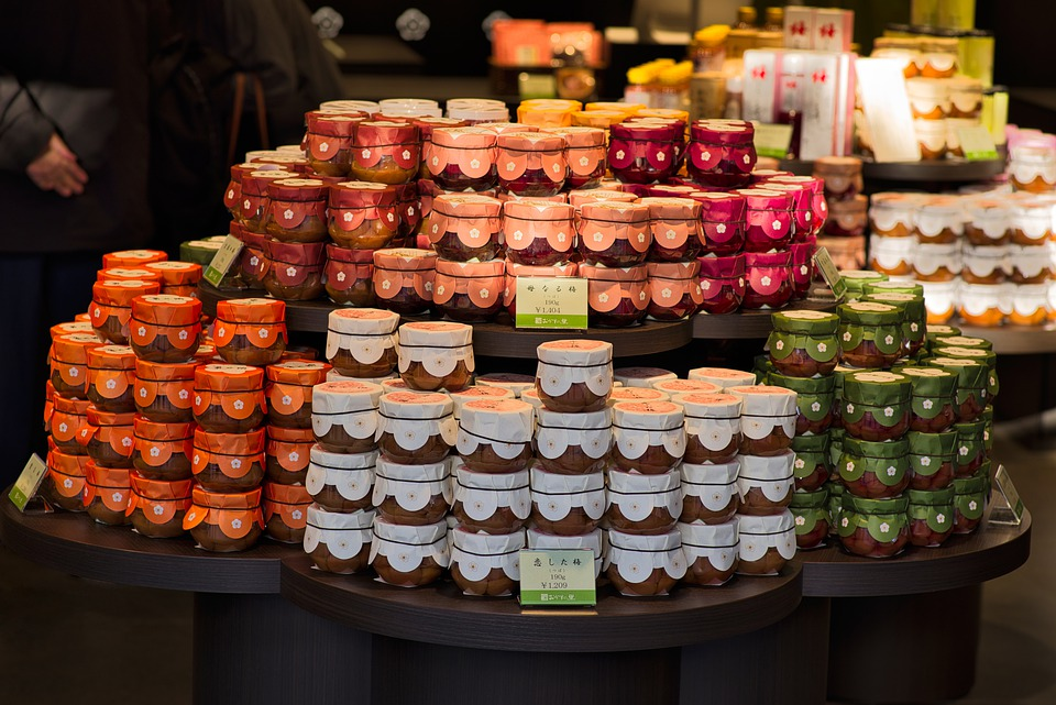 Canned Food, Fruit, Plum, Food, Food Stall, Store
