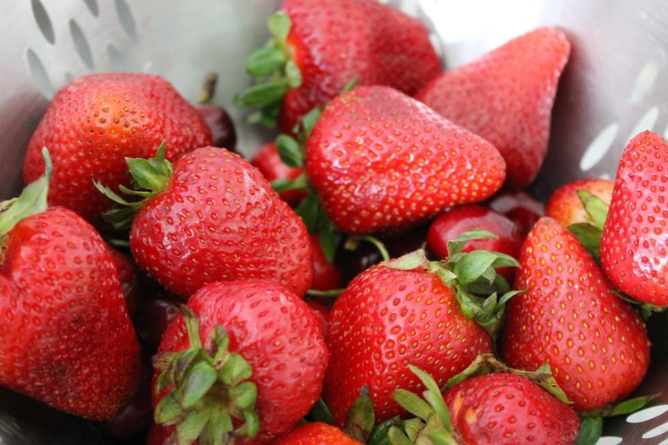 Strawberries, Fruit, Red, Food
