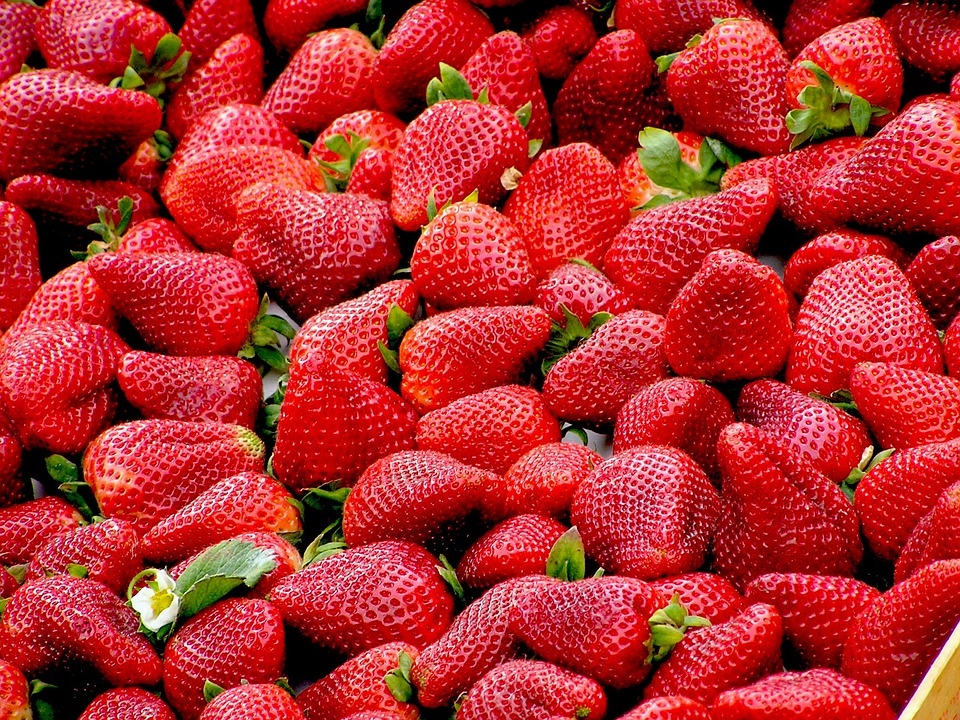 Strawberries, Red, Fruit, Ripe, Many, Sweet, Berries