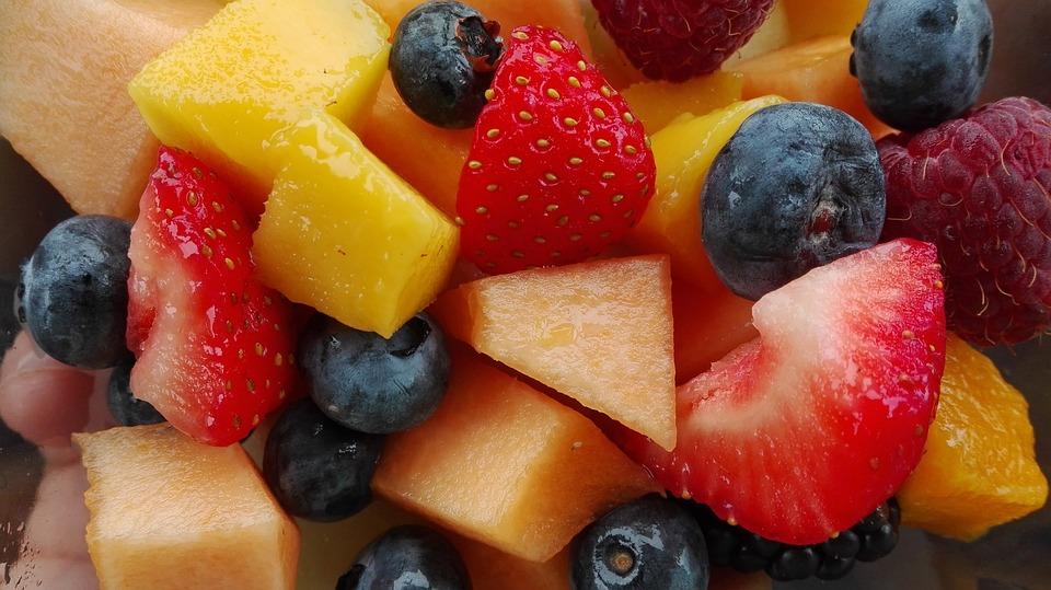 Fruit, Fruit Salad, Vitamins, Food, Raspberries