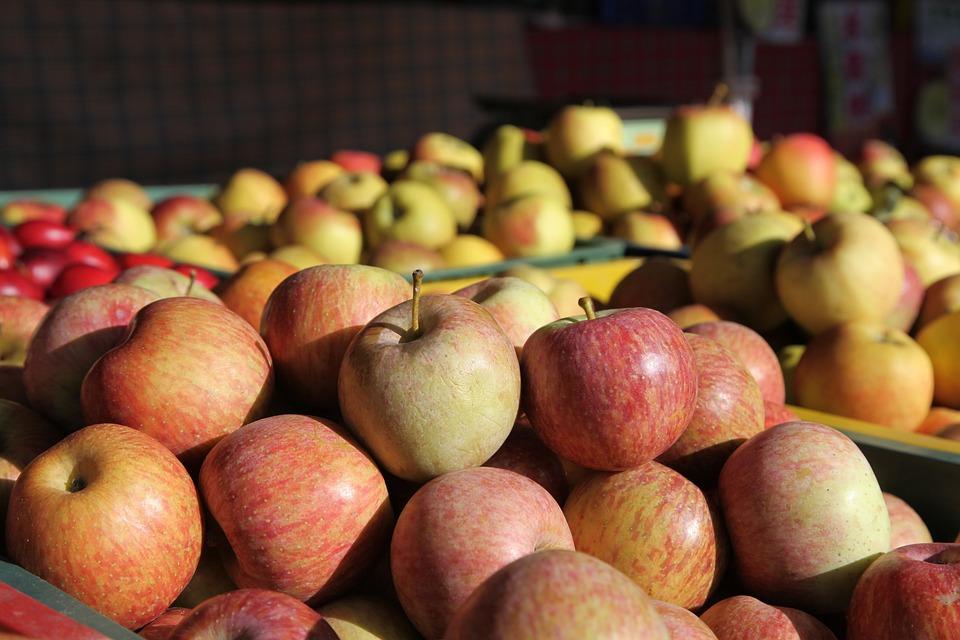 Apple, Sale, Fruit, Market, Food, Shopping, Season