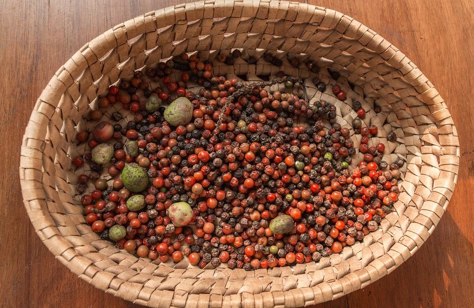 Food, Bowl, Basket, Fruit, Pepper, Spice, Grow
