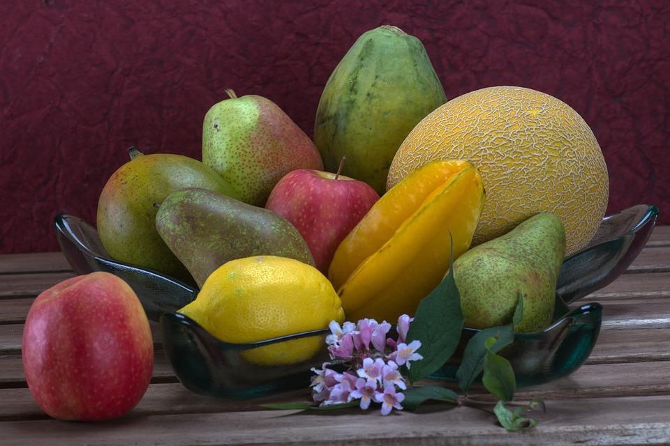 Still Life, Flowers, Roses, Fruit, Apple, Melon