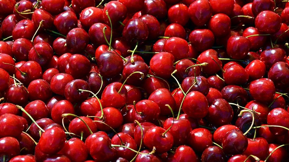 Cherries, Fruit, Sweet Cherries, Food, Summer, Red