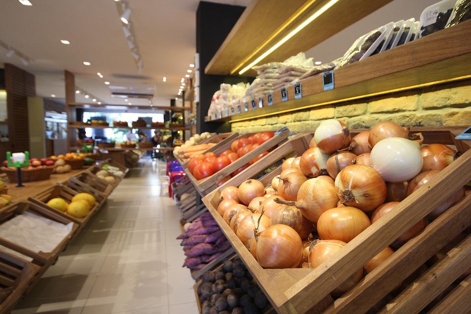 Supermarket, Fruit, Vegetables, Onion, Onions