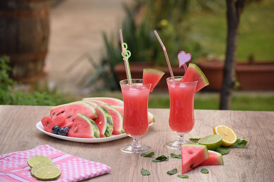 Table, Refreshment, Glass, Food, Drink, Fruit, Summer