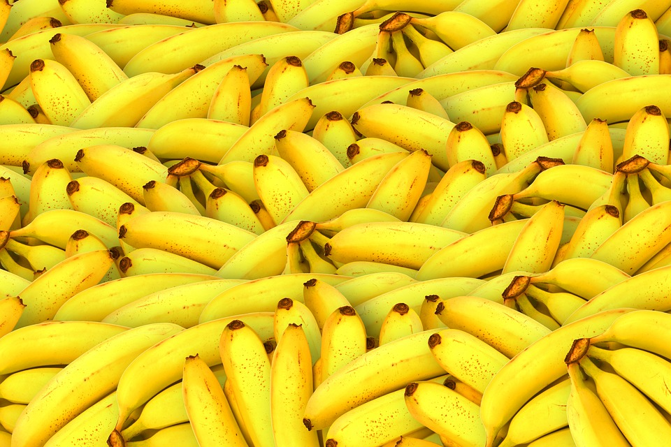 Bananas, Fruit, Yellow, Healthy, Fresh Fruit, Tropical