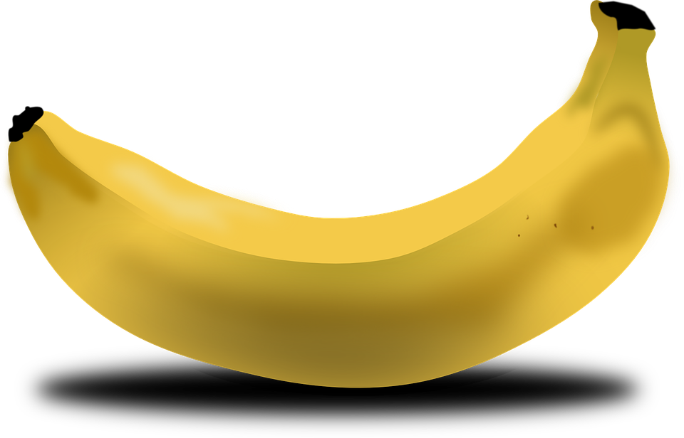 Banana, Fruit, Food, Yellow, Bent