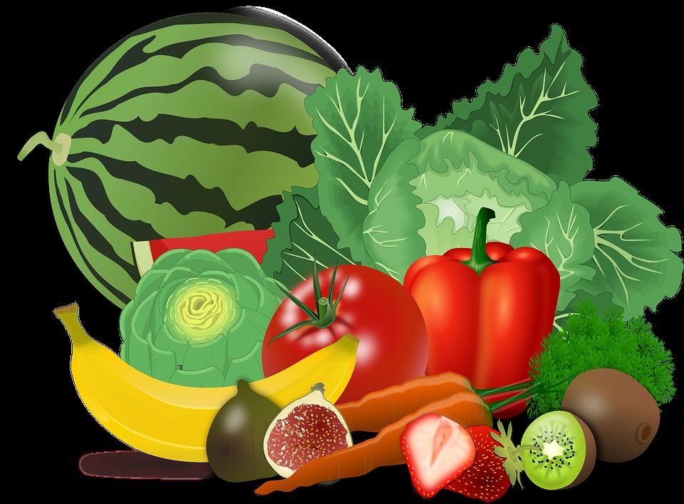 Vegetables, Fruits, Food, Artichoke, Banana, Berries
