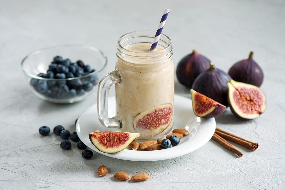 Blueberries, Breakfast, Fruits, Nuts, Fig, Table, Sweet