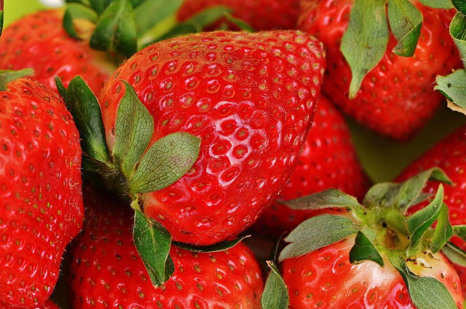 Strawberries, Fruit, Close, Fruits, Red, Sweet, Food