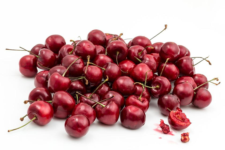 Cherries, Fruits, Food, Fresh, Healthy, Ripe, Organic