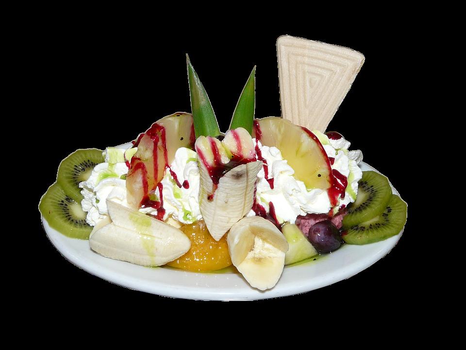Ice Cream Sundae, Fruits, Dessert, Ice Cream, Fruit