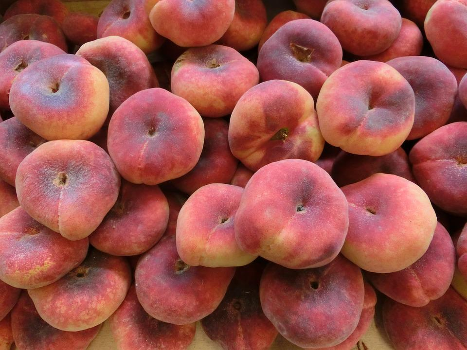 Peaches, Market, Fruit, Fruits