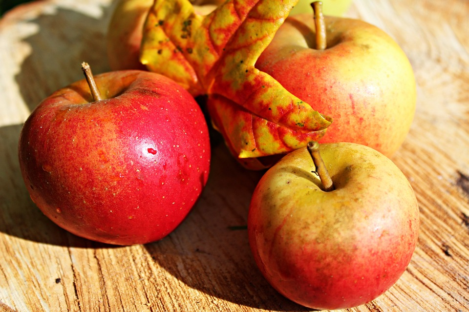 Apple, Ripe, Red, Autumn, Fruits, Harvest, Vitamins