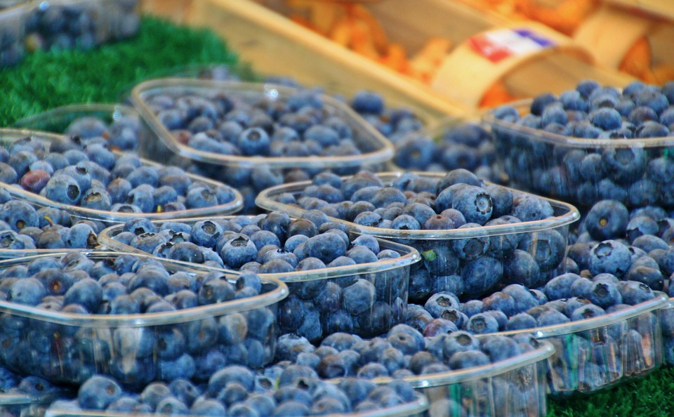 Blueberries, Berries, Fruits, Fruit, Vitamins, Healthy