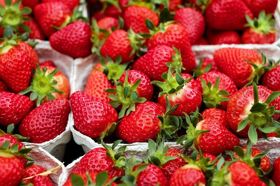 Strawberries, Fruit, Red, Sweet, Fruits, Market
