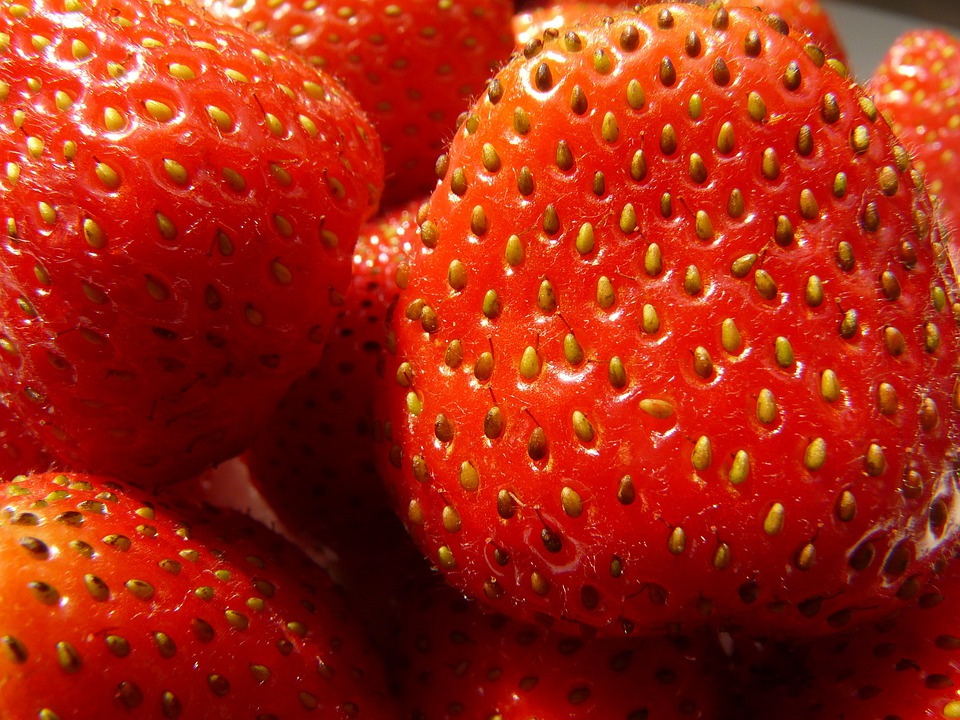 Strawberries, Fruity, Red, Fruits, Sweet, Berries