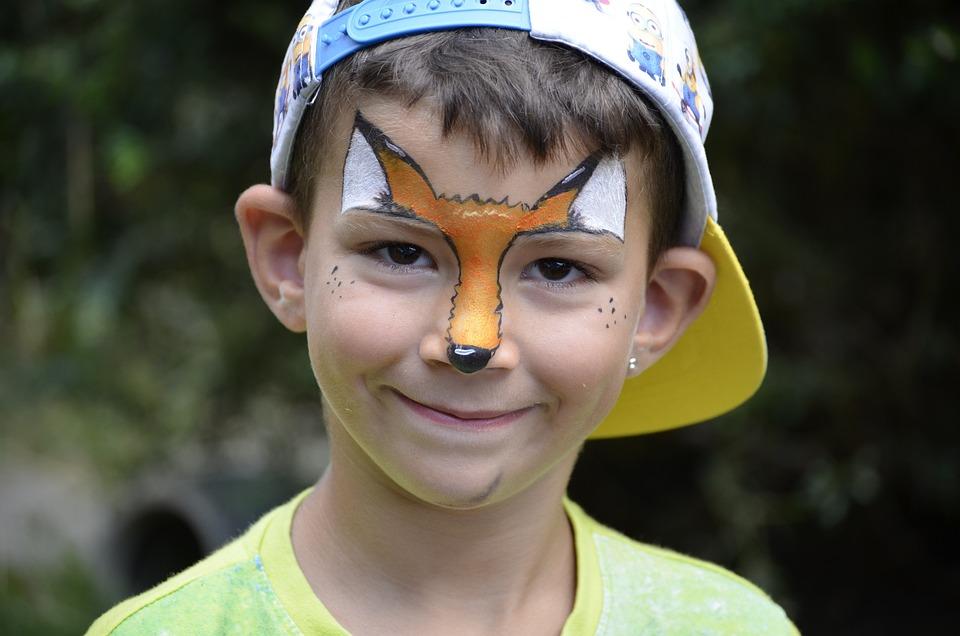 Children, Boy, Sweet, Face, Painting, Fuchs, Art