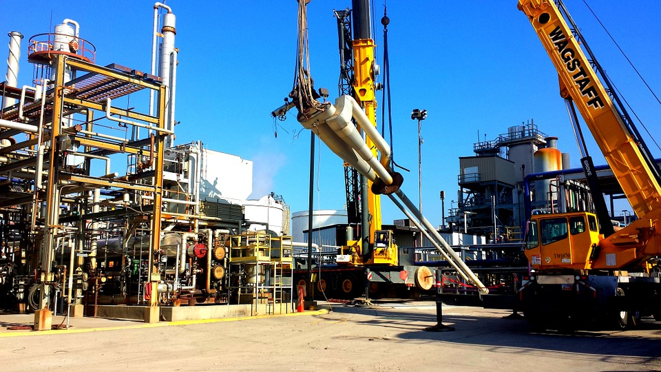 Oil Rig, Refinery, Industry, Gas, Fuel, Outdoors