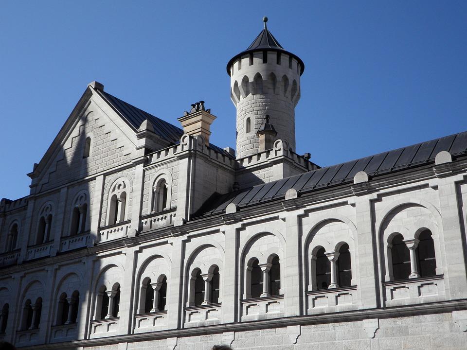 Castle, Turret, Kristin, Allgäu, Füssen, Architecture