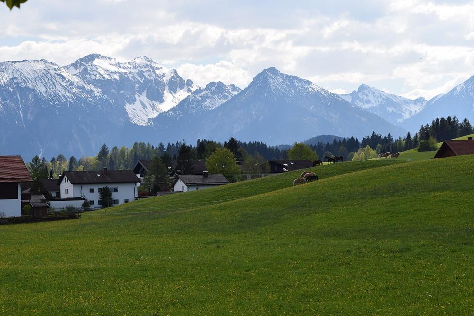 Germany, Füssen, Mountain, Landscape, Grand