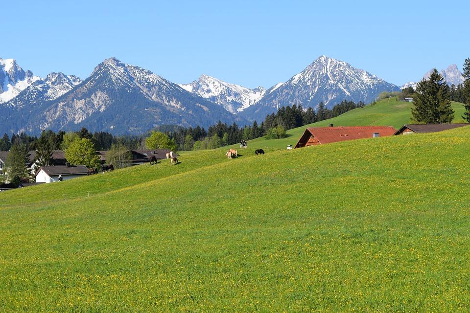 Germany, Füssen, Mountain, Landscape, Grand, Prairie