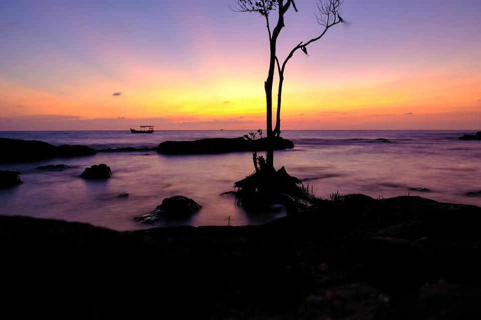 Sunset, Fujil Photo, Deserted Sea