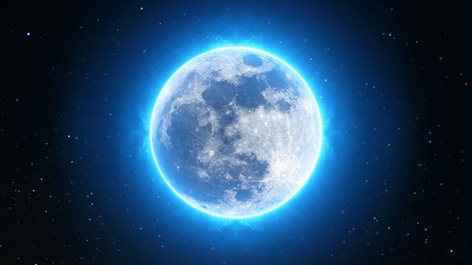 Full Moon, Moon, Full, Night, Sky, Dark, Space, Light