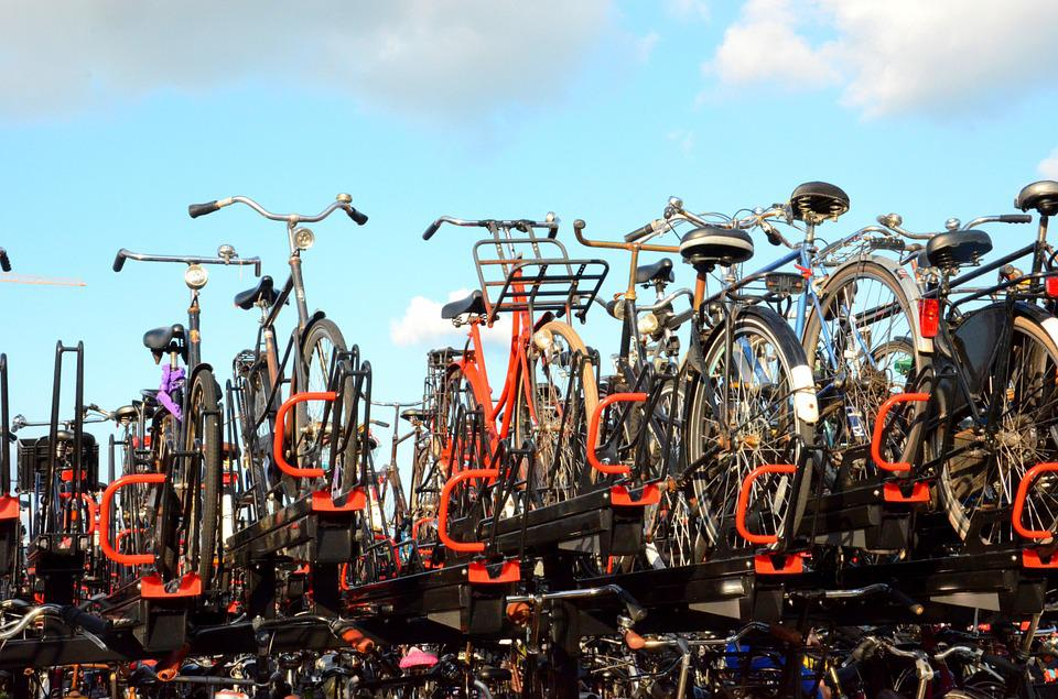 Amsterdam, Bicycles, Many, Full, Parking