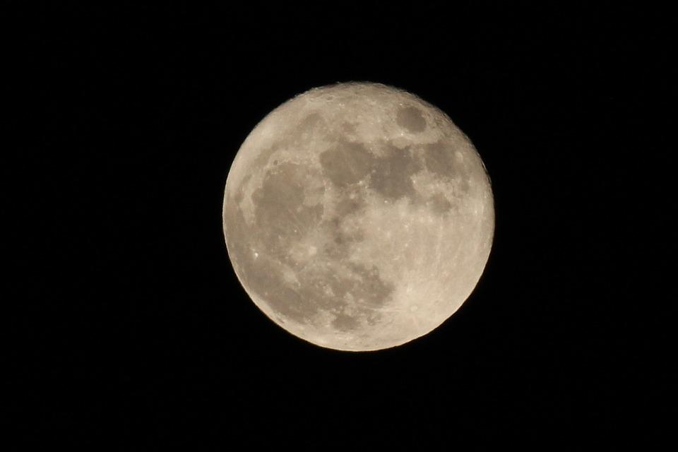 Luna, Full Moon, Autumn, Nero, Mystery, Clear Night
