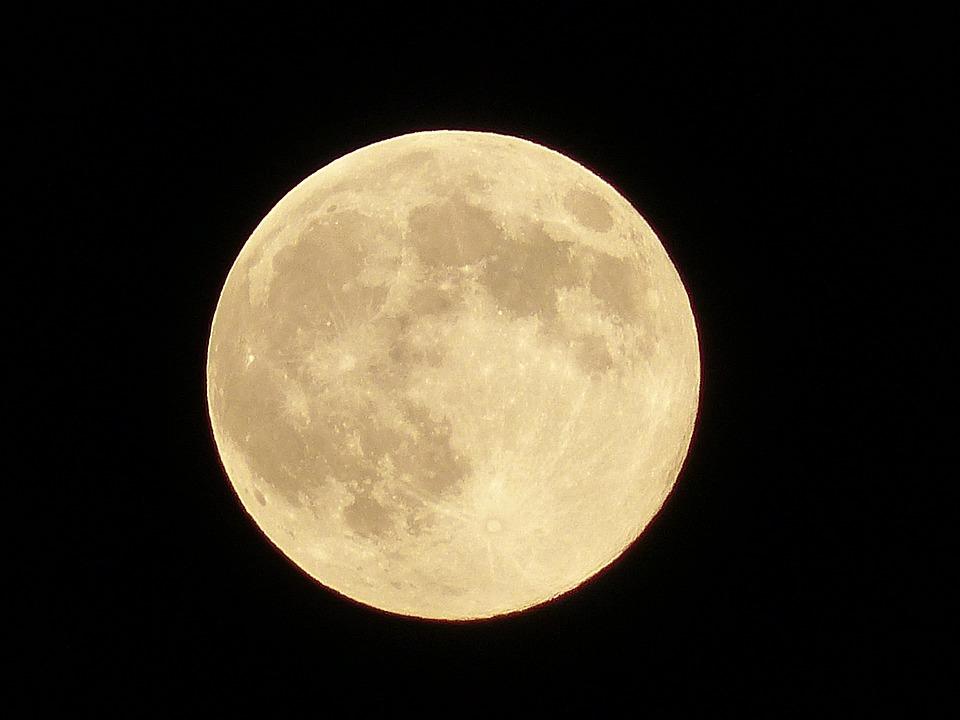 Luna, Satellite, Full Moon, Nero, Night, Infinite