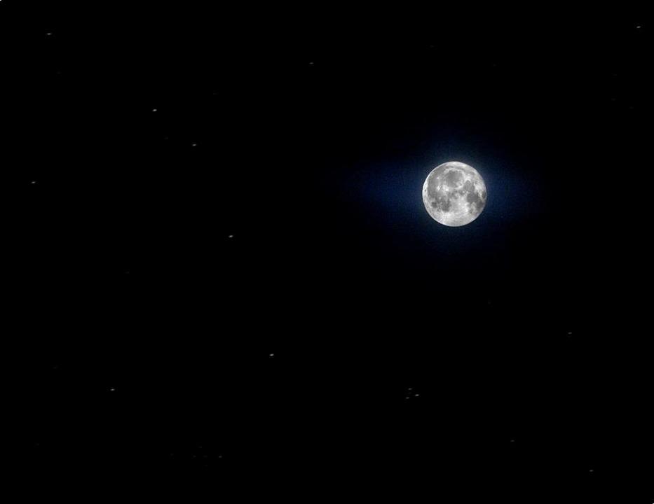 free photo full moon moon sky night sky stars night time max pixel