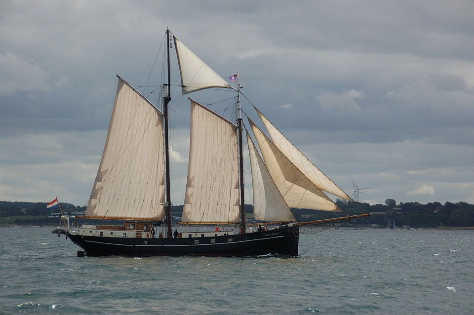 Sailing Vessel, Sail, Full Stuff, Ship, Sea
